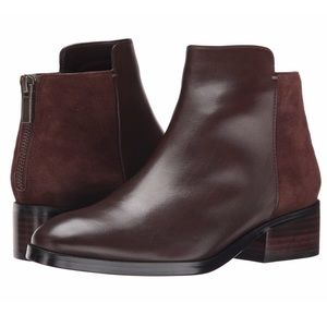 Cole Haan Eliot brown leather suede booties